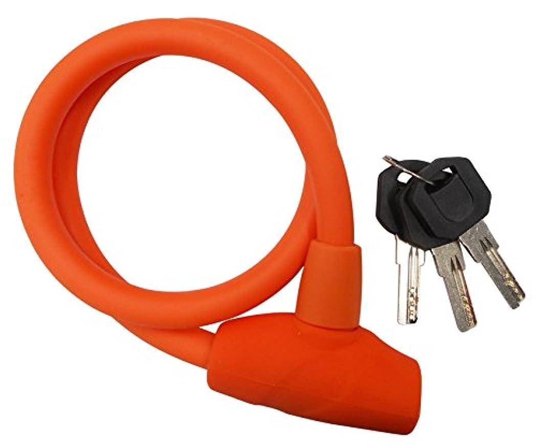 について検出持ってる自転車 鍵 ULAC ソフトタッチシリコンボディ ケーブルロック JAZZ S2T 60cm オレンジ 71706