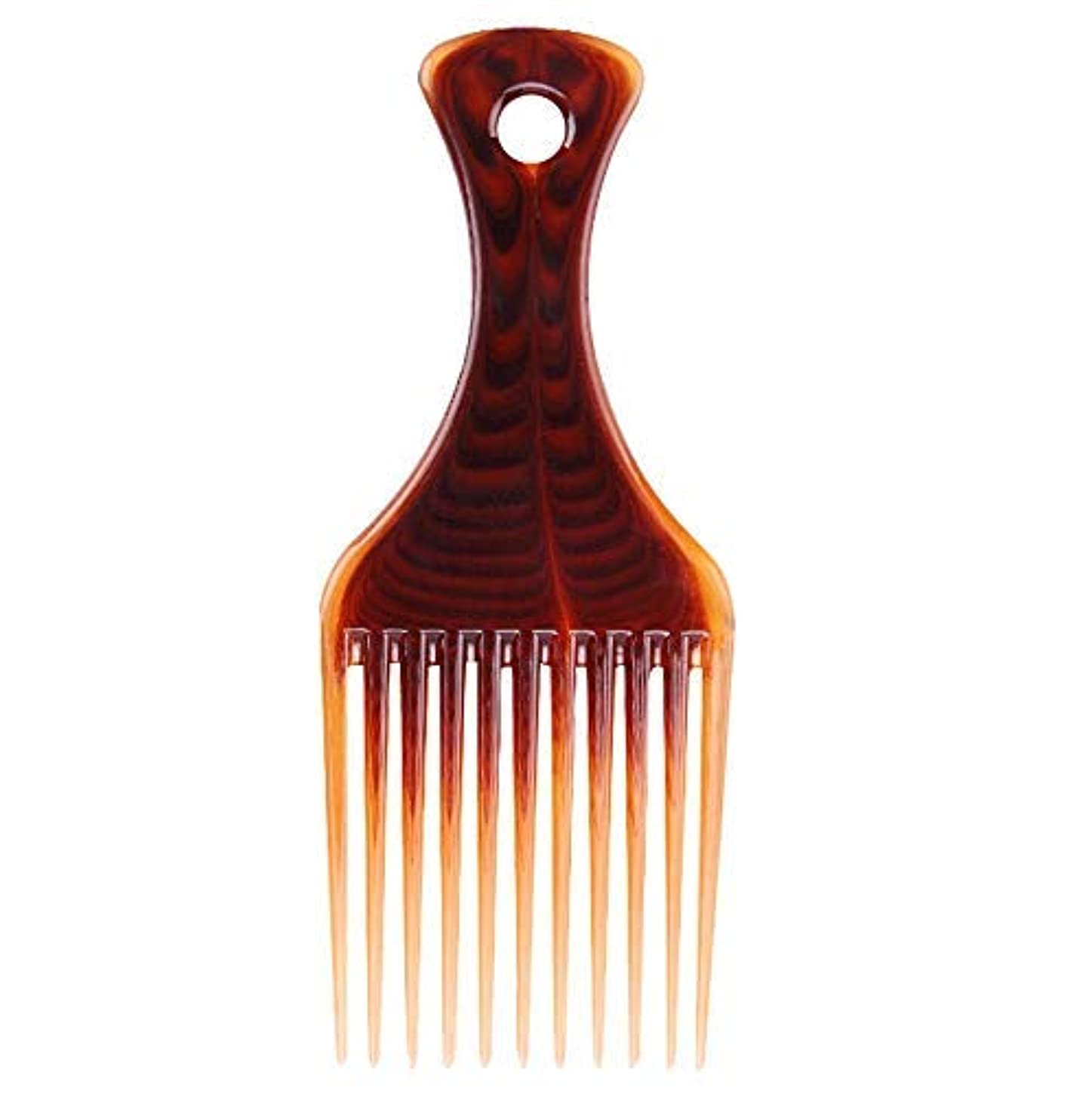 寛容なデンプシー交流するRosette Hair Amber Smooth Hair Pick Comb Afro Lift Detangle Hair Comb Hair Styling Tools [並行輸入品]
