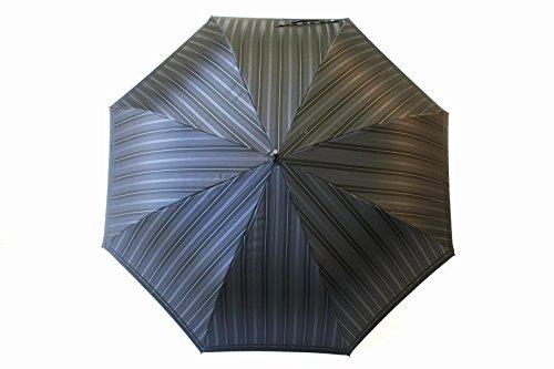 高級甲州織 メンズ 長傘 「Tie」 ストライプ ✕ 無地 GRAY 灰色 江戸時代から140年以上の歴史を持つ甲州織の老舗傘メーカー 槙田商店 紳士用 高級傘