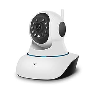 lvshan ワイヤレスIPカメラ(C7838WIP)、監視、防犯室内用監視カメラ、ネットワークカメラ、無料アプリ、ベビーモニター、ペット見守り、720P高画質355°左右回転と120°垂直回転範囲、警報機能と遠隔監視と遠隔対話と録画機能を備えるipカメラ