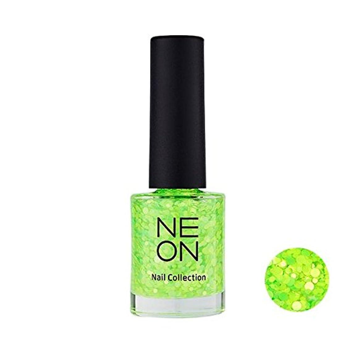 振り返るモーションはさみIt'S SKIN Neon nail collection [04 Neon Glitter green] イッツスキン ネオンネイルコレクション [04 ネオン グリッター グリーン] [並行輸入品]