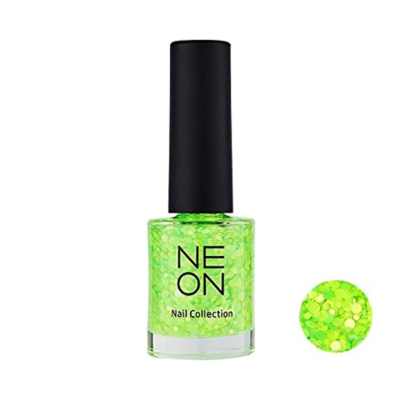 受け入れた九月軍隊It'S SKIN Neon nail collection [04 Neon Glitter green] イッツスキン ネオンネイルコレクション [04 ネオン グリッター グリーン] [並行輸入品]