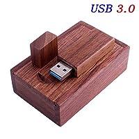 LUHEUPM 写真のお客様木製Usb +ギフトボックスUsbフラッシュドライブUsb 3.0ウッドペンドライブ8GB 16GB 32GB 64GB結婚式の贈り物クルミ材8GB 3.0木製フラッシュドライブ2.0 USB