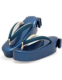 草履 fussa 青 ブルー リボン 厚底 ぞうり ゾウリ 女性用 レディース 振袖向け 成人式 カジュアル フォーマル 日本製 フリーサイズ
