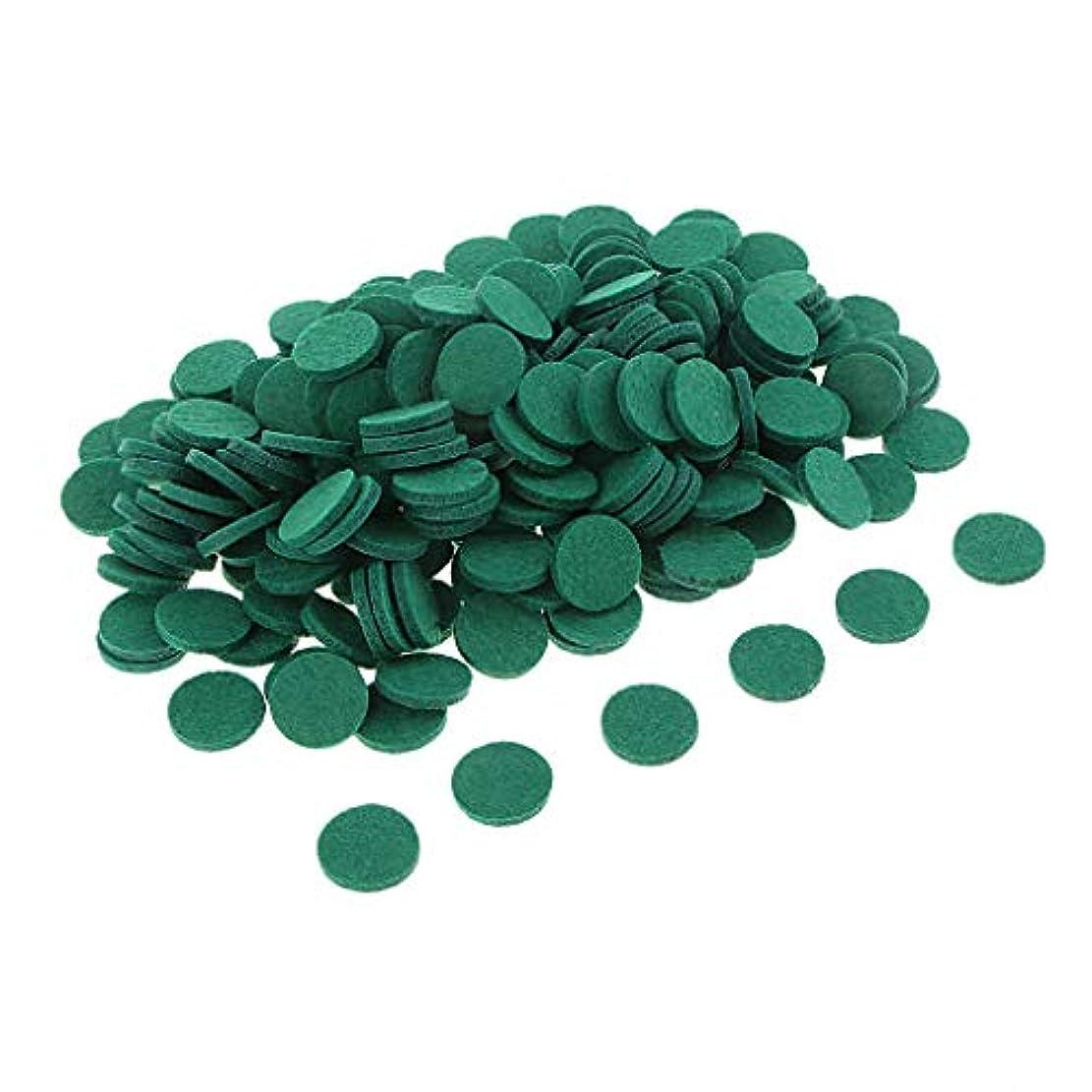 滝雇用者計算精油付き ロマテラピー用オイルパッド チェアマット 交換用 香水 精油 車 全11色 約200個入り - 緑