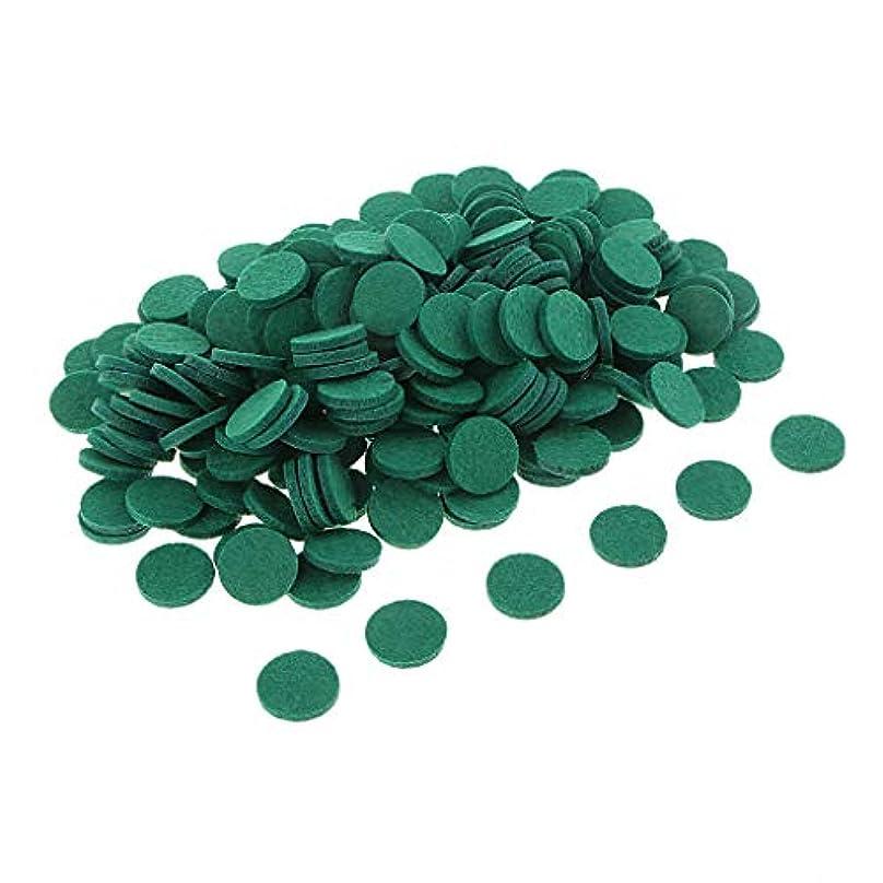 もろい感じる潮sharprepublic 200ピースアロマエッセンシャルオイルディフューザーロケットネックレス詰替フェルトパッド - 緑