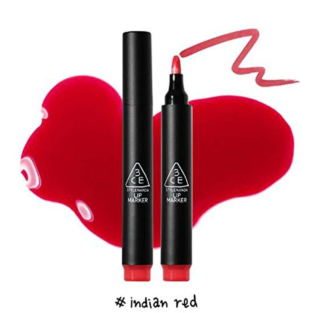 出力ファイバ情緒的3CE [韓国コスメ 3CE] リップマーカーティント 3CE Lip Marker 3CE (1.Indian Red)