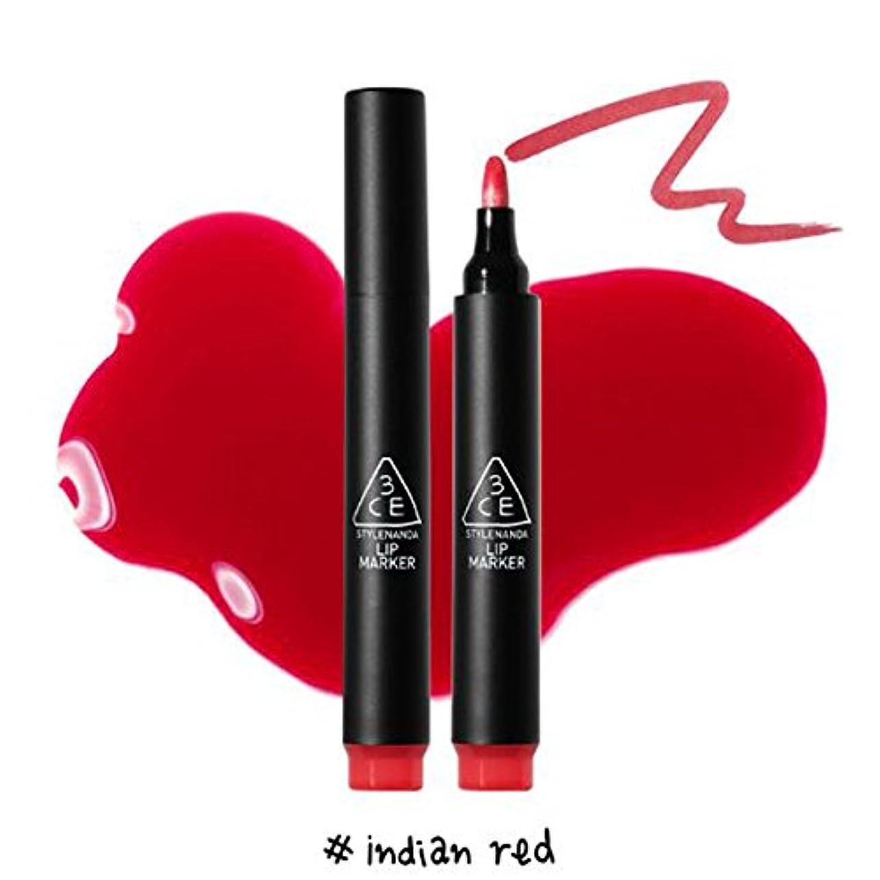 日光創造多くの危険がある状況3CE [韓国コスメ 3CE] リップマーカーティント 3CE Lip Marker 3CE (1.Indian Red)
