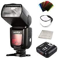 『技適マークを付き』Godox TT685 高速同期 TTL フラッシュ カメラ X1T 2.4G無線フラッシュトリガーXシステム 1 / 8000s高速 大画面 LCD スクリーントランスミッタ (TT685S+X1T-S)