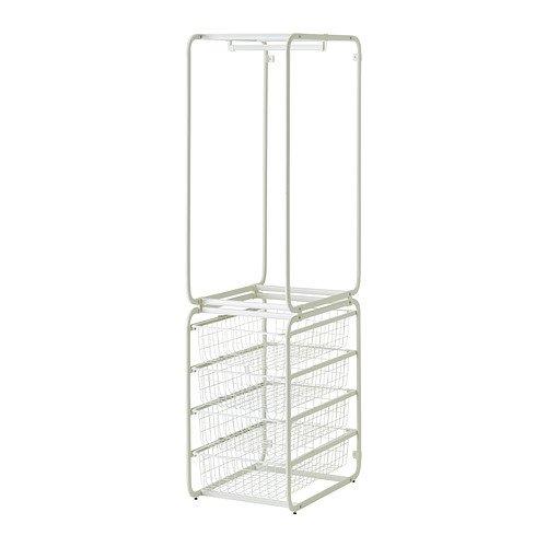 IKEA(イケア) ALGOT フレーム ロッド付き ワイヤーバスケット ホワイト