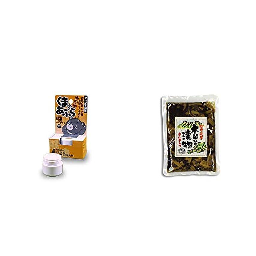 本会議型評議会[2点セット] 信州木曽 くまのあぶら 熊油スキン&リップクリーム(9g)?【年中販売】木曽の漬物 すんき入り(200g) / すんき漬け味付加工品 //