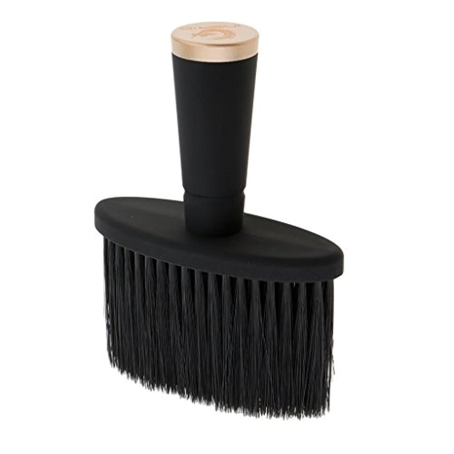 無声で引き金悲劇的なネックダスターブラシ ソフト ネックダスターブラシ サロン スタイリスト 理髪 メイクツール 全2色 - ゴールド