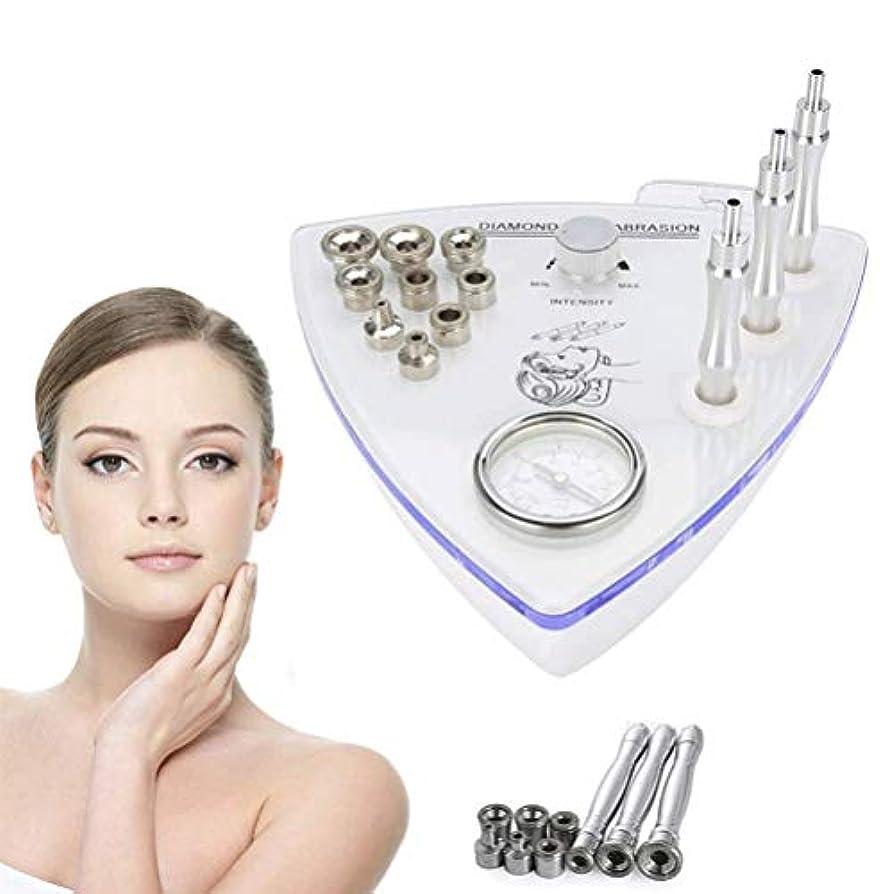 頑張るファーム円形のフェイシャルマッサージ - 美容機ダイヤモンドマイクロダーマブレーション皮膚剥離マシンスプレーガン水では、真空吸引剥離スプレー