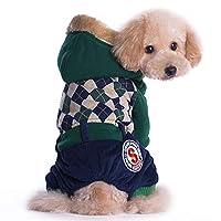MEI GU ペット服 - 犬の服秋と冬の服テディの中小犬の服VIP法とケージ厚い暖かいペット服を戦う Iペット用品 (色 : Green, サイズ さいず : M)