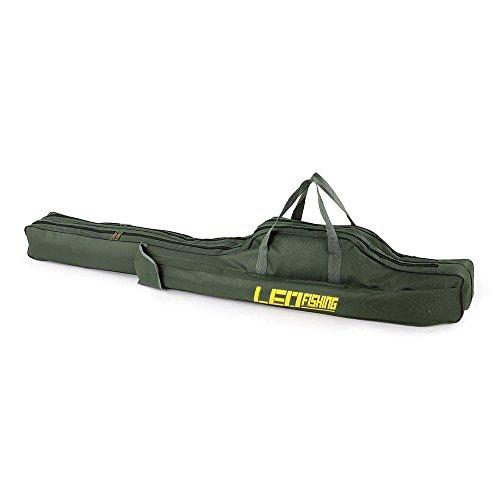 ロッドケース 釣りロッド 釣竿ケース フィッシングバッグ 肩掛け 大容量 釣り竿入れ 折畳 (150cm)