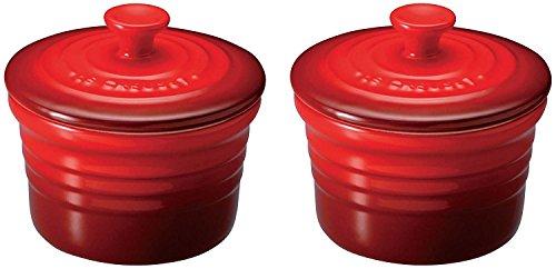 ルクルーゼ ラムカン S フタ付き 2個 セット 耐熱 容器 チェリーレッド 910026-00-06