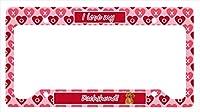 キャロラインはLH9132LPFダックスバレンタイン愛と心のナンバープレートフレームを宝物