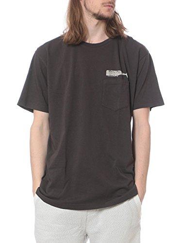 胸ロゴポケット付きクルーネック半袖 Tシャツ