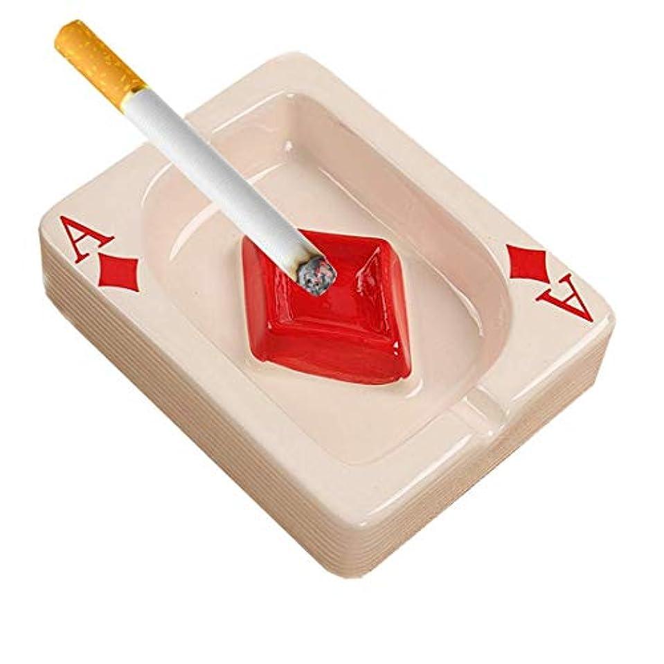 人に関する限り豊かにする受益者人々のための灰皿ホームオフィスファッション装飾手作りギフト喫煙屋外屋内デスクトップのためのクリエイティブセラミックたばこの灰皿卓上ポータブル現代灰皿ポーカーシガー灰皿