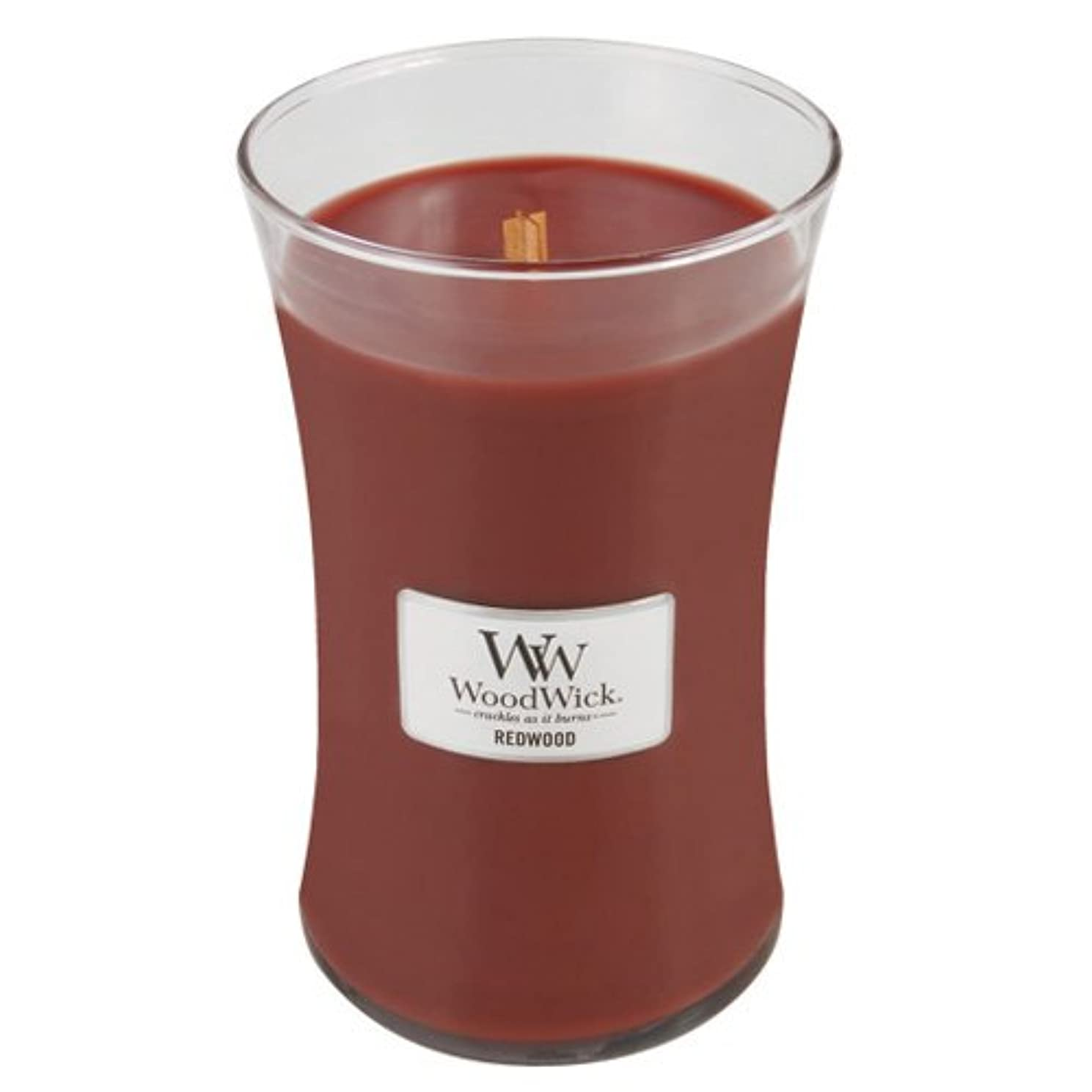 (Large Jar, Red) - Woodwick Jar Candle (Large)