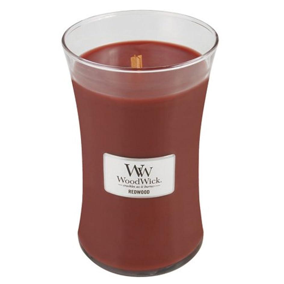 簡単に翻訳ぴったり(Large Jar, Red) - Woodwick Jar Candle (Large)