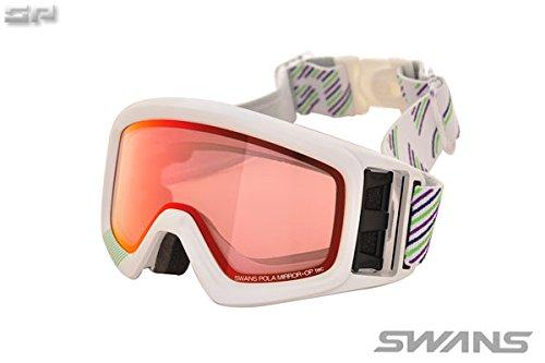 SWANS(スワンズ)大人向け シャドーミラー偏光ピンクレンズ スノーゴーグル 透過率42% HELI-MPDH SPW F