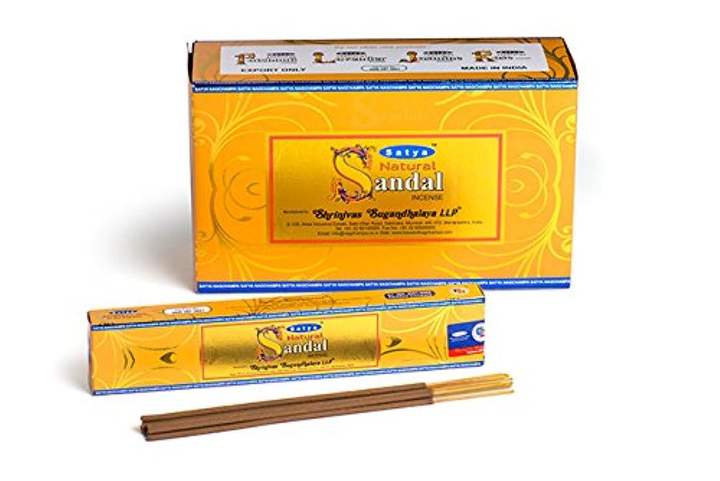 振る合理的飾るSatyaナチュラルChandan Incense Sticks 15グラムパック、12カウントin aボックス