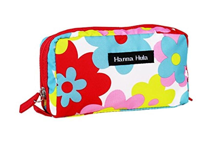 Hanna Hula ペット ミニポーチ ポケット付き 軽量 ポップフラワー 横17×縦9×奥行き5cm 61g