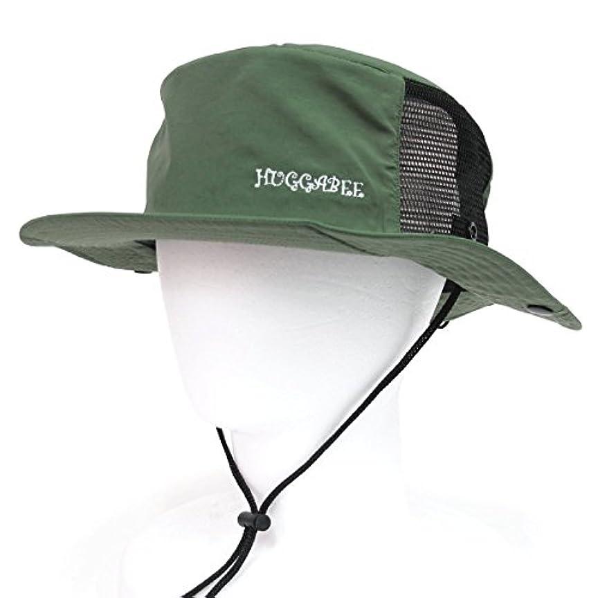 扇動するカーフめんどりHUGGABEE(ハガビー) サーフハット 帽子 カーキ サファリハット キッズ 子供 メンズ レディース
