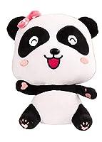 ぬいぐるみ漫画カップル大きな目恥ずかしがり屋パンダ奇妙な素晴らしい赤ちゃんの置物子供の誕生日プレゼントのおもちゃ (A2,32CM)