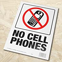 AP NO CELL PHONES プラスチック看板