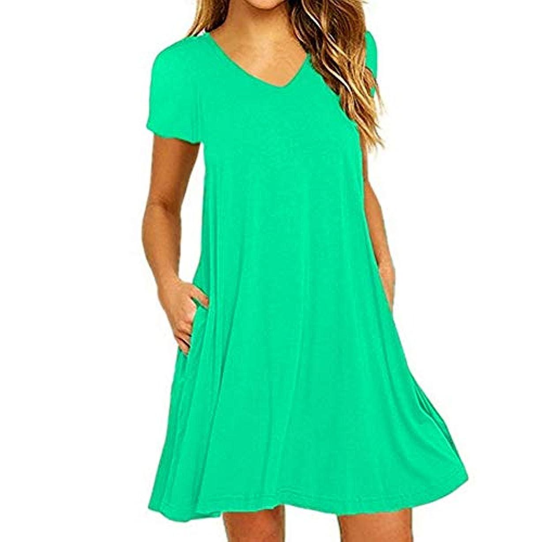 良心的代わりのショッピングセンターMIFAN の女性のドレスカジュアルな不規則なドレスルースサマービーチTシャツドレス