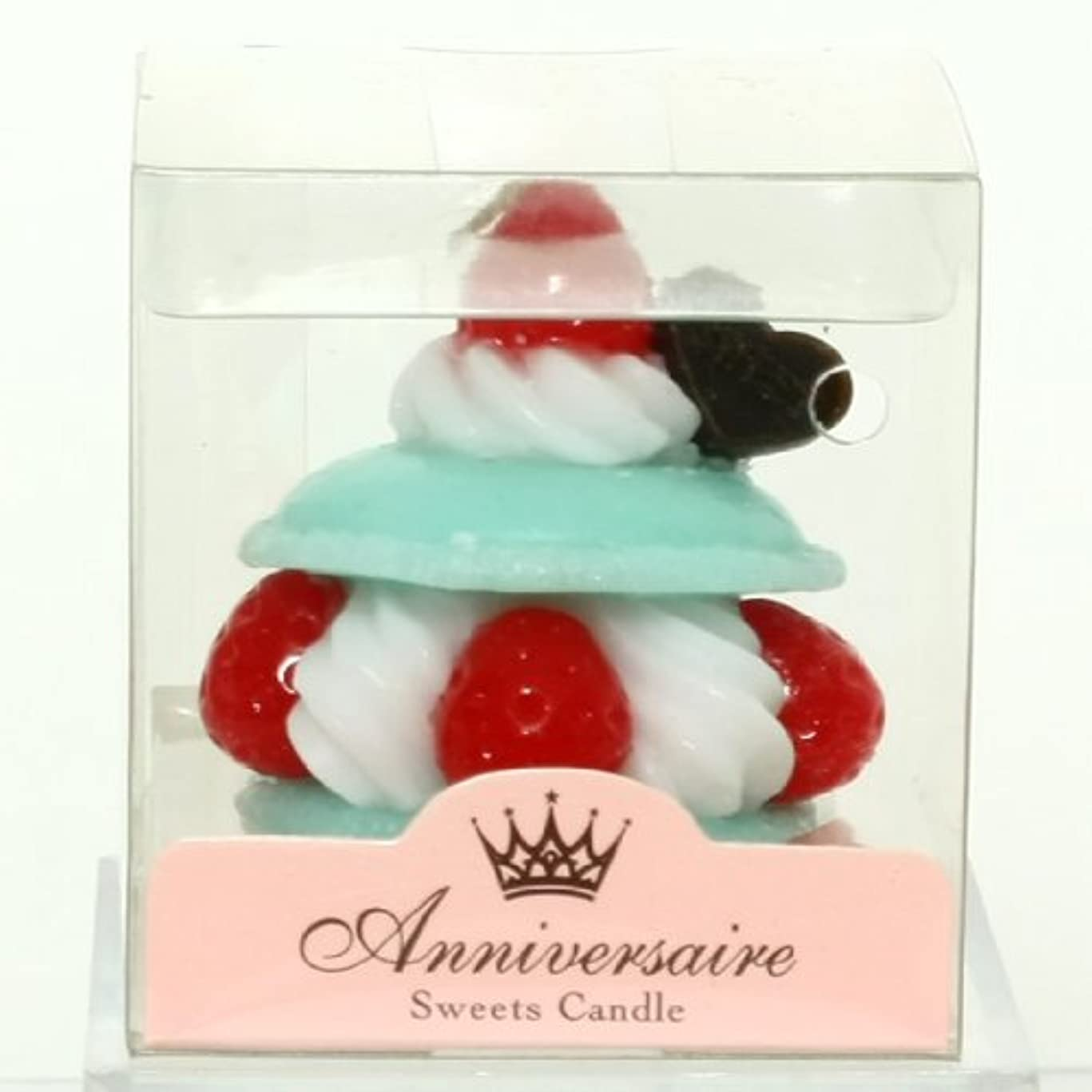 暫定無駄にキャプテンスイーツキャンドル(sweets candle) マカロンケーキキャンドル【ミント】