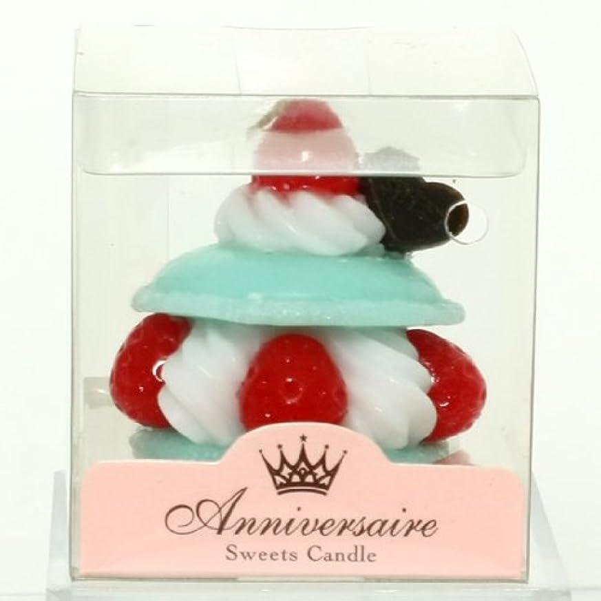 シャット名誉ある腸スイーツキャンドル(sweets candle) マカロンケーキキャンドル【ミント】