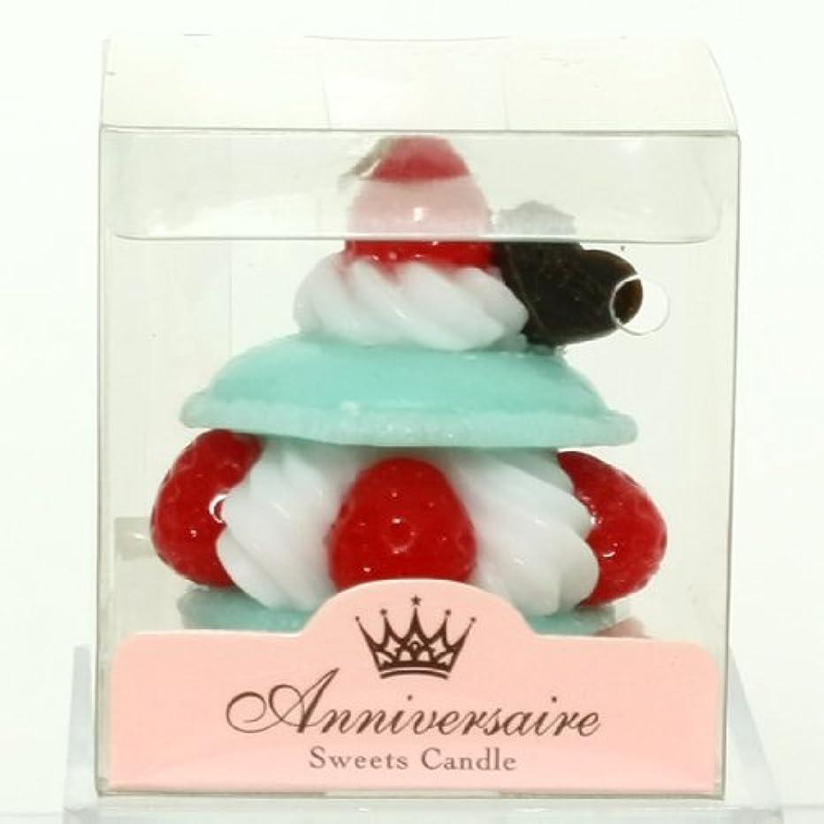 認証収容する泥棒スイーツキャンドル(sweets candle) マカロンケーキキャンドル【ミント】
