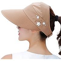EachEver Women's UV Protection Wide Brim Cap Packable Visor Summer Beach Sun Hats