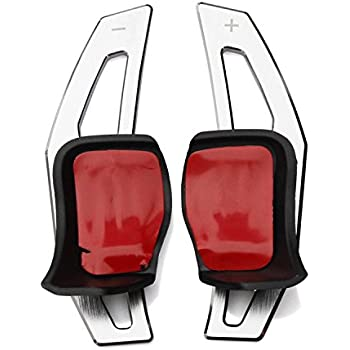 WANWU フォルクスワーゲン・ゴルフ5・6パサート ジェッタアウディ アルミニウム金属 パドルシフトVW Golf Passat Jetta社外品 [並行輸入品] (シルバー)