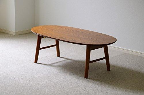 北欧調のおしゃれでシンプルな木製センターテーブル オーク 丸...