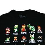 スーパーマリオ キャラ&アイテム Tシャツ(BLK) Mサイズ [並行輸入品]