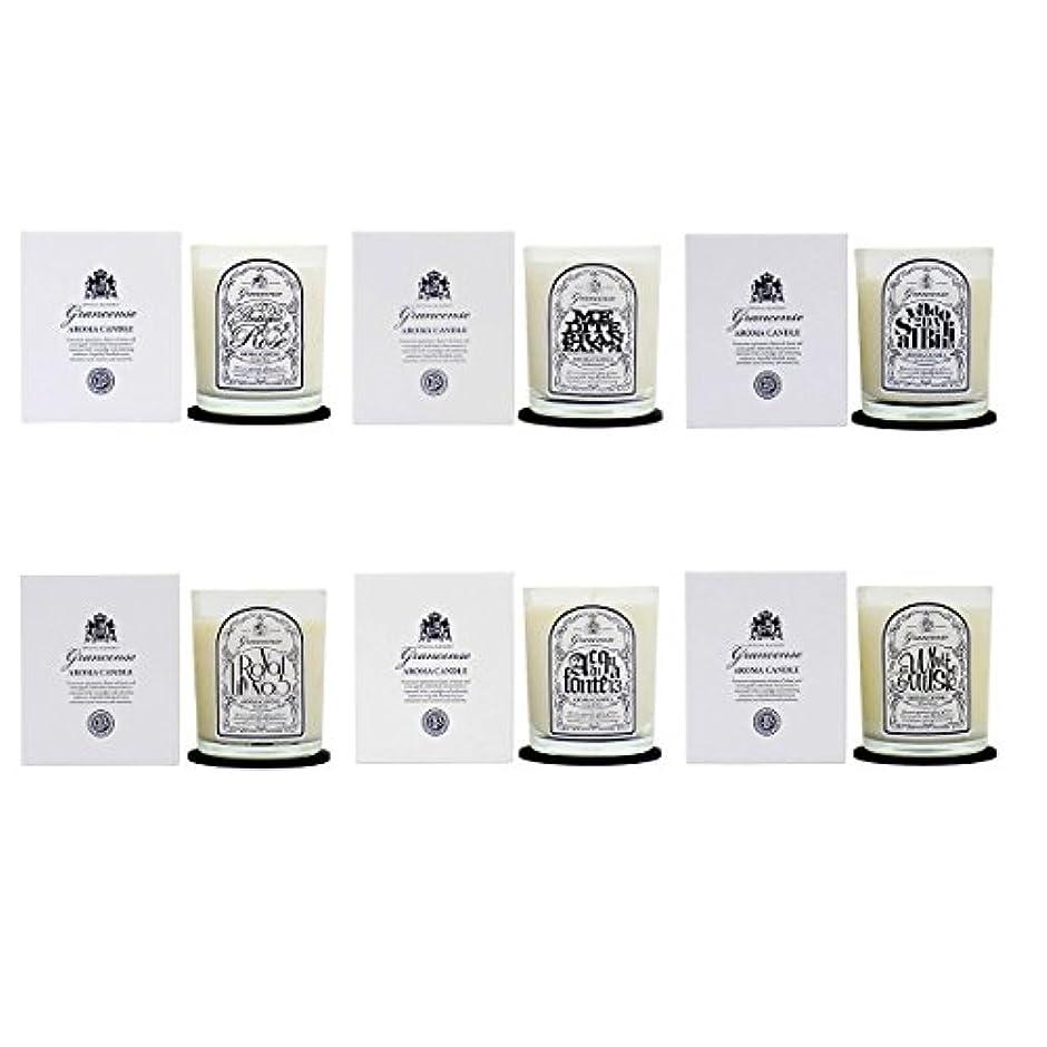 耐えられない彫刻バーベキューグランセンス アロマキャンドル 6種セット