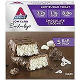 Atkins Endulge Chocolate Coconut Bars   Keto Friendly Bars   15 x 40g Low Carb Coconut Bars   Low Carb, Low Sugar, High Fibre   15 Bar Pack