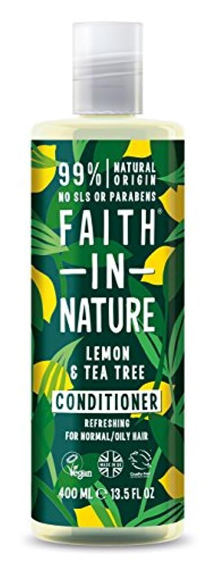 溶ける変動する入場料Faith in Natureレモン & ティートリー コンディショナー
