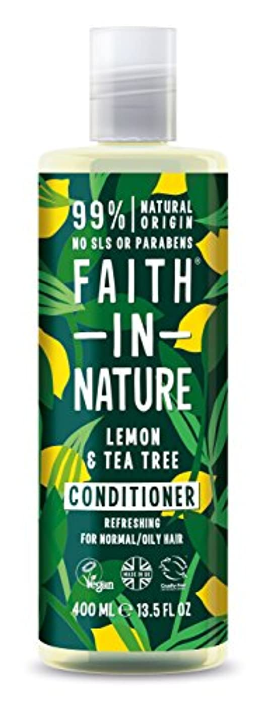 伝統的アセ発見するFaith in Natureレモン & ティートリー コンディショナー