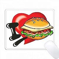 私はチーズバーガーを愛する PC Mouse Pad パソコン マウスパッド