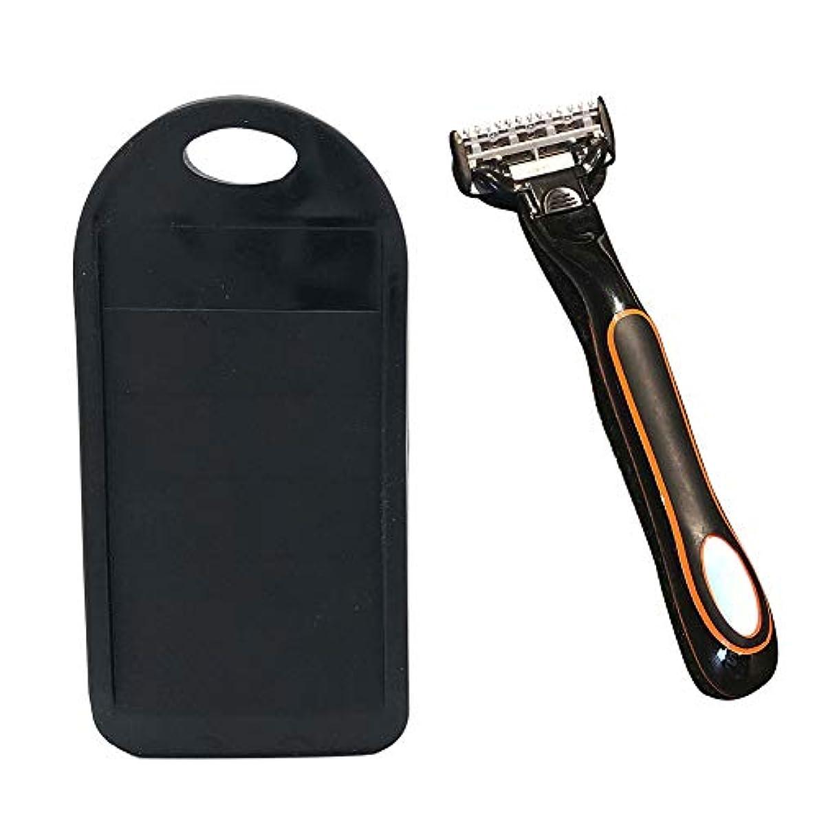 安全後量シェーバークリーナー、男性女性耐久性のある便利な手動カミソリ刃研ぎ器ユニバーサルクリーナー、カミソリ刃の寿命を延ばす