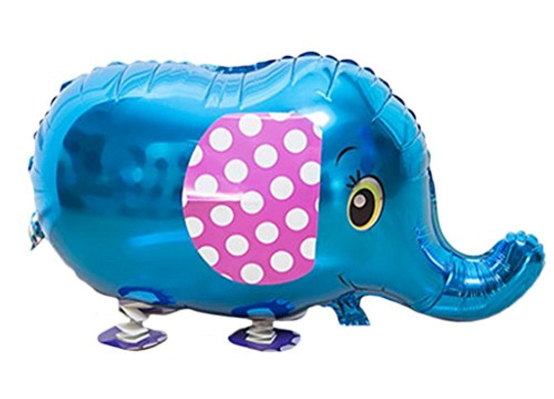 (ビグッド)Bigood ビニール玩具 景品 お散歩バルーン 風船 パーティグッズ 動物 アニマル 誕生日 クリスマス イベント 装飾 お祭り 縁日 ブルー象