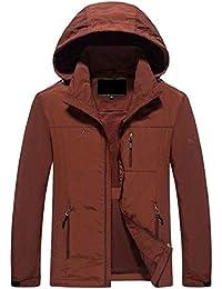 gawaga メンズウインドブレーカー?ジャケットの軽量屋外のスポーツウェアのフードジャケット