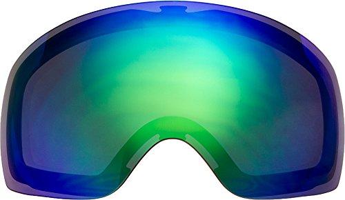自社製 オークリー FLIGHT DECK XM ゴーグル用交換レンズ GREEN MIRROR