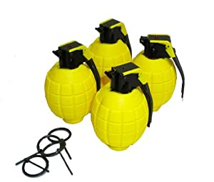 Lot of 4 Kids Toy B/o Cool Yellow Grenades for Pretend Play フィギュア おもちゃ 人形 (並行輸入)