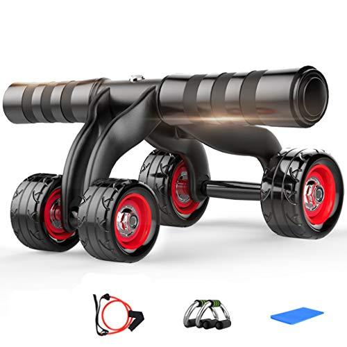 Abのローラー - 4つの車輪のAbのトレーナーの膝パッドのマット及びブレーキ版が付いている腹部体操...